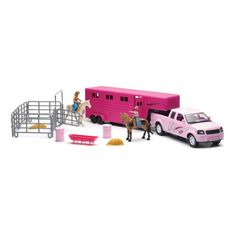 New Ray Toys - Pink Pickup Trailer Set