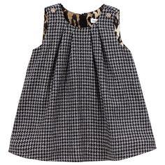 Dolce & Gabbana - Hounstooth print wool dress - love the leopard lining