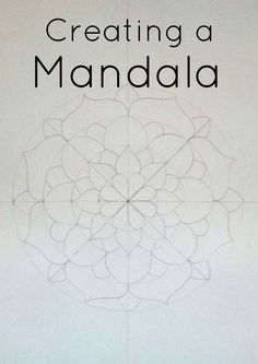 Grade / Year Level :: Secondary Education :: Year 10 :: Creating a MandalaDBTFreebie - Looking for an activity with little preparation and engaging…how to create a mandala // diy // journalingThis art lesson is designed to be implemented by a relief tea Mandala Drawing, Mandala Painting, Dot Painting, Painting & Drawing, Mandala Art Lesson, Mandala Doodle, Mandala Design, Mandala Pattern, Zentangle Patterns