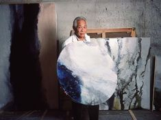 Diapo Zao Wou-Ki - À Paris, en 1988. Joan Miro, Painting Prints, Paintings, Chinese Painting, Art Plastique, Art Studios, Artist At Work, Art World, Saatchi