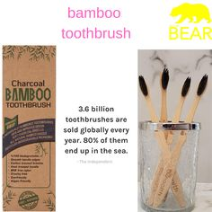 Add a sparkling smile on your face by brushing your teeth with new ZHealth Bamboo Toothbrush that comes in a pack of This water-resistant toothbrush gives a long-lasting fresh breath and is currently available in a pack of 4 – at least 8 weeks supply! 8 Weeks, Brushing, Cruelty Free, Biodegradable Products, Teeth, Bamboo, Charcoal, At Least, Smile