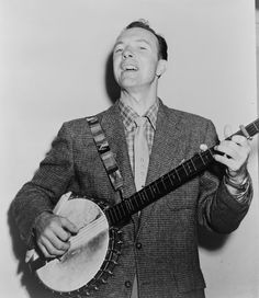 """Born in 1919, Pete Seeger is a folk singer, activist and American icon. In the 1940s, he performed in The Weavers, along with Woody Guthrie. In the 1950s, he opposed Sen. Joseph McCarthy's political witch hunt and was almost jailed for refusing to answer questions before the House Un-American Activities Committee. Seeger helped popularize the civil rights anthem, """"We Shall Overcome,"""" inspiring a generation of protest singers. His legendary career has landed him on Democracy Now! several…"""