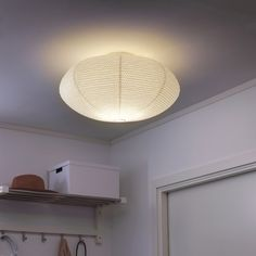 SOLLEFTEÅ Ceiling lamp IKEA The lamp gives a pleasant, evenly distributed general light, as it uses a light source. At Home Furniture Store, Modern Home Furniture, Flush Ceiling Lights, Ceiling Beams, Luminaire Ikea, Craft Room Lighting, Bedroom Ceiling, Countertop Materials, Windows