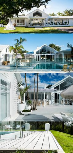 How to achieve the hamptons resort look for summer. Who doesn't love the idea of living in a year-round resort destination? Hamptons Style Homes, Hamptons House, Hamptons Beach Houses, The Hamptons, Coastal Farmhouse, Coastal Homes, Hampton Garden, House Goals, Beach House Decor