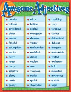 Awesome Adjectives.
