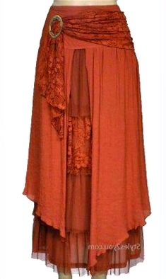 Pretty Angel Clothing Antique Belted Skirt In Rust -Kinda fun, not sure if I could pull this off or not. Pretty Angel Clothing Antique Belted Skirt In Rust -Kinda fun, not sure if I could pull this off or not. Gypsy Style, Bohemian Style, Boho Chic, Skirt Belt, Dress Skirt, Dress Up, Shirt Dress, Boho Outfits, Pretty Outfits