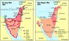 Egypt Yom Kippur War | day-war-1967-and-yom-kippur-war-map.jpg
