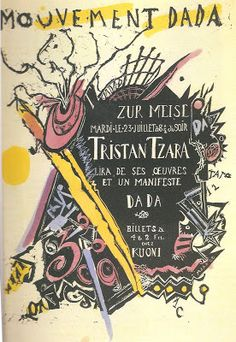 Marcel Janco, Poster for the soirée of Tristan Tzara at the Zunfthaus zur Meisen, 1918 Tristan Tzara, Kurt Schwitters, Tel Aviv, Zurich, Self Awareness Quotes, Poster Creator, Milk Magazine, Marcel Duchamp, Study Architecture