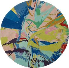 DAMIEN HIRST, beautiful oasis in a deserted expanse, drink up the beauty before it's too late rug, $42,488