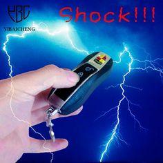 Antistress Fun Electric Shock Car Keychain Safety Toys Trick Jokes Keyring Halloween Horror Gadget Gag Novelty Toys For Children