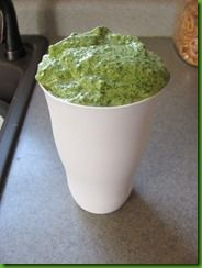 spinach smoothie--made these all last summer, minus the powder