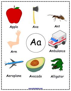 Toddler's First Alphabet Picture Book, Alphabet Wall Poster, Toddler Learning Folder - Learning Preschool Letter A Words, Alphabet Words, Alphabet Phonics, Alphabet Pictures, Alphabet Book, Alphabet Worksheets, Alphabet Activities, Preschool Worksheets, Preschool Activities