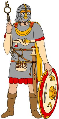 King Redwald in Sutton Hoo Costume - © Nash Ford Publishing