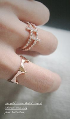 Rose Gold Crown Ring from kellinsilver.com