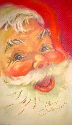 Vintage Eve Rockwell Santa