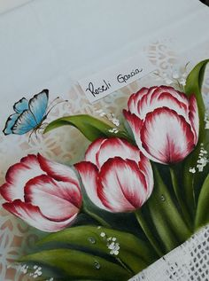 31 Ideas Art Painting Techniques Inspirational For 2019 One Stroke Painting, Tole Painting, Fabric Painting On Clothes, Fabric Paint Designs, Flower Sketches, Acrylic Painting Techniques, Flower Tutorial, Pictures To Paint, Watercolor Flowers