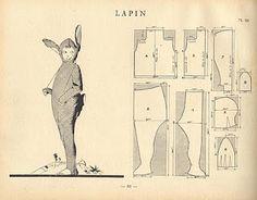 vintage rabbit costume pattern