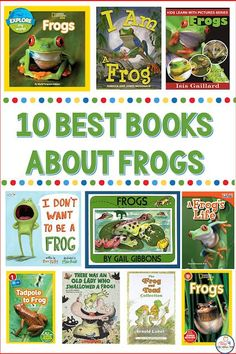 Looking for the best frog books to kick off a frog unit in kindergarten? These frog read alouds include fiction stories, and nonfiction frog books so your students can learn fun facts about frogs!
