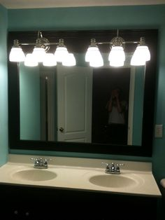 Framed out mirror