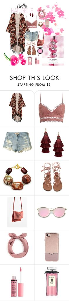 """""""Pink blossom🌸"""" by sarvfashion ❤ liked on Polyvore featuring MANGO, Zimmermann, Hollister Co., Design Lab, De Beers, Urban Outfitters, Rebecca Minkoff, Charlotte Russe, Jo Malone and MAC Cosmetics"""