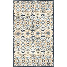 Accentuate your interior décor with this handsome wool area rug. It is woven from soft wool and constructed with a durable canvas backing. Featuring an enthralling design highlighted by ivory and beige accents, this rug adds beauty to any room.