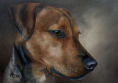 Through The Eyes Of A Dog - original oil painting, painting by artist Anne Zoutsos