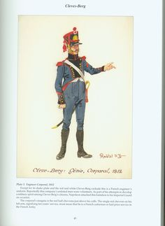The Confederation of the Rhine - Cleves - Berg: Plate Engineer Corporal, 1812 Empire, Napoleonic Wars, Military Art, Warfare, Reno, History, Soldiers, Fictional Characters, 19th Century