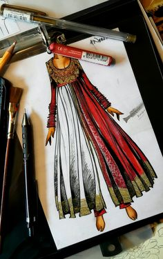 Fashion Design Books, Fashion Design Sketchbook, Fashion Design Drawings, Fashion Art, Dress Illustration, Fashion Illustration Dresses, Fashion Model Sketch, Fashion Sketches, Dress Design Sketches