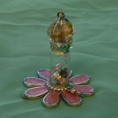 Mystic Spirit Jar Flower Bottle Spell Bottle by mystic2awesome