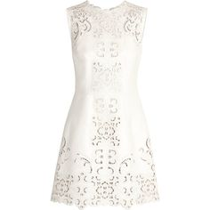 Dolce & Gabbana Cutout leather mini dress (9 885 AUD) ❤ liked on Polyvore featuring dresses, vestidos, vestiti, short dresses, white mini dress, dolce gabbana dresses, white cocktail dresses and white cutout dress
