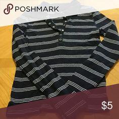 Long sleeved shirt SO GSJC long sleeved shirt. Blue with light blue stripes. Excellent condition. Smoke free home. Juniors size medium SO GSJC Tops Tees - Long Sleeve