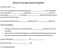 Printable sample rental lease agreement templates free for Boarder agreement template