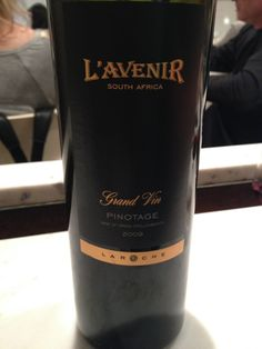 +2009 Laroche L'Avenir Pinotage (South Africa), 14% Deep ruby red with garnet reflections. Intense on the nose with pepper, wood, herbal notes, spicy fruit notes. Dry, balanced, and intense on the palate with spice, vanilla, wood, complex fruits. My one complaint was that it wasn't terribly persistent. Great wine. BP: Buy