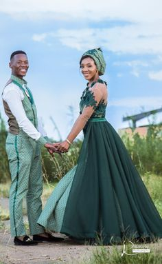 A Gorgeous Wedding With The Bride In Green Shweshwe - South African Wedding Blog