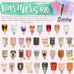 Scentsy Mini Warmers available for the Spring/Summer 2017 catalog.  Www.AmbersSweetScents.Scentsy.us