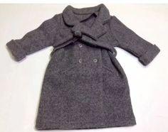 AMERICAN GIRL DOLL KIT KITTREDGE LONG GREY WOOL WINTER COAT WITH BELT RETIRED  | eBay