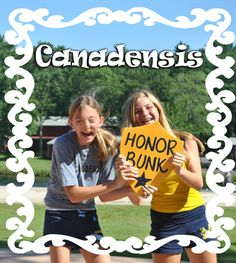 Look how happy these campers were to win honor bunk for their age group!  This prize is given out weekly to bunk that has scored the highest clean-up inspection score for their Camp Canadensis division.