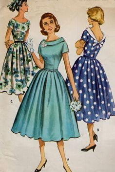 New womens vintage clothing sewing patterns Ideas Vintage Dress Patterns, Clothing Patterns, Vintage Dresses, Vintage Outfits, 1950s Fashion, Vintage Fashion, Historical Clothing, 50s Clothing, Vintage Clothing