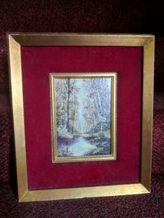 $685 + $50 ship for sale 2021 Original Vintage Mid-20th S. Gruber Oil Painting On Board Panel Landscape | eBay Vintage Art Prints, Ship, Landscape, The Originals, Board, Frame, Artist, Painting, Ebay