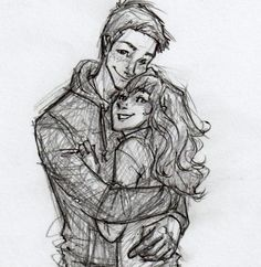 [She] kissed him full on the mouth. Ron threw away the fangs and broomstick he was holding and responded with such enthusiasm that he lifted Hermione off her feet. drawn by burdge