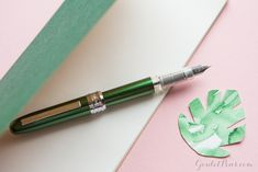 The Platinum Plaisir fountain pen is affordable and gorgeous in green! Explore our collection pink and green fountain pens for more fantastic favorites. Pin for later.