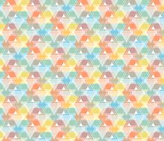 Triangle overlay, party time fabric by linkolisa on Spoonflower - custom fabric