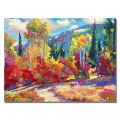 David Lloyd Glover 'The Colors of New Hampshire' Canvas Art by Trademark Fine…