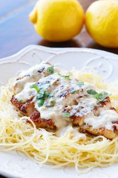Love crispy garlic chicken and buttery lemon noodles? You will love this creamy Lemon Chicken Pasta Recipe! ✿⊱╮