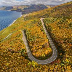 From @mjb_photo  Our @flitelab view of the Cabot Trail highway switchbacks. Cape Breton Highlands National Park Nova Scotia. . . #novascotia #photooftheday #explorecanada #oh_canada_ #sharecangeo #visitnovascotia #capebreton #capebretonhighlands #nsleaf #dronestagram #dronelife #dronesdaily #dronephotography #droneoftheday #dronefly #instalandscape #djiglobal #canadiancreatives #instadaily #instagram  #imagesofcanada #explorecanada #halifaxnoise #cbcns #unlimitedcanada #mikebayerphoto