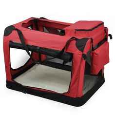 LYNCOL Blue & Red M/L/XL Dog Pet Puppy Fabric Portable Carrier Foldable Kennel Crate Bag Cage (Red, Larger) - http://dogcratesuk.pesonashop.co.uk/lyncol-blue-red-mlxl-dog-pet-puppy-fabric-portable-carrier-foldable-kennel-crate-bag-cage-red-larger/