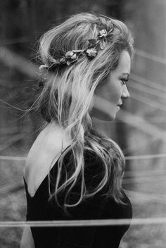 Flower adorned hair