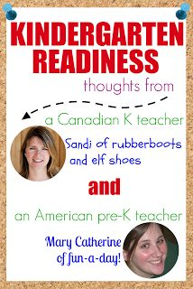 Kindergarten readiness thoughts!