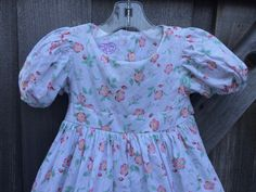 Floral Poppy Dress Toddlers 2/3 by lishyloo on Etsy