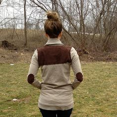 DIY: add back, elbow and pocket patches to anything with long sleeves! | la vie en rose